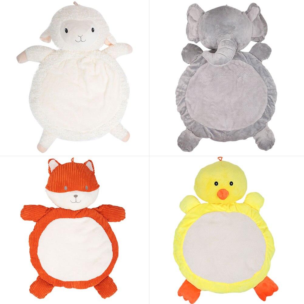 Babies Elephant Fox Doll Mattress Pad Plush Mattress Cushion Crawling Toy