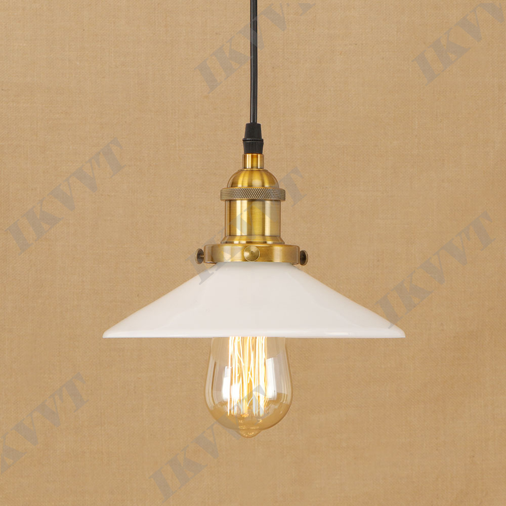 Small Simple Chandelier Us 51 24 16 Off Living Room Resturant Decor Glass Lampshade White Clear Pendent Light Vintage Iron Red Bronze Small Simple Retro Chandelier In