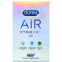 Authenticity Durex Condoms 16 Pcs Natural Latex Spiral Ultra Thin Lubricated Contraception 3 Types In 1
