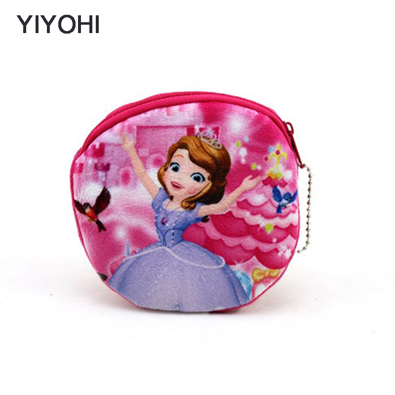 YIYOHI New Kawaii Cartoon Girls The First Children Plush Coin Purse Zip Change Purse Wallet Kids Girl Women For Gift