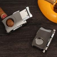 Galiner Sigaar Cutter Scherpe Metalen Cutter Sigaret Sigaren Draagbare Humidor Accessoires Met Sigaar Punch & Gift Box