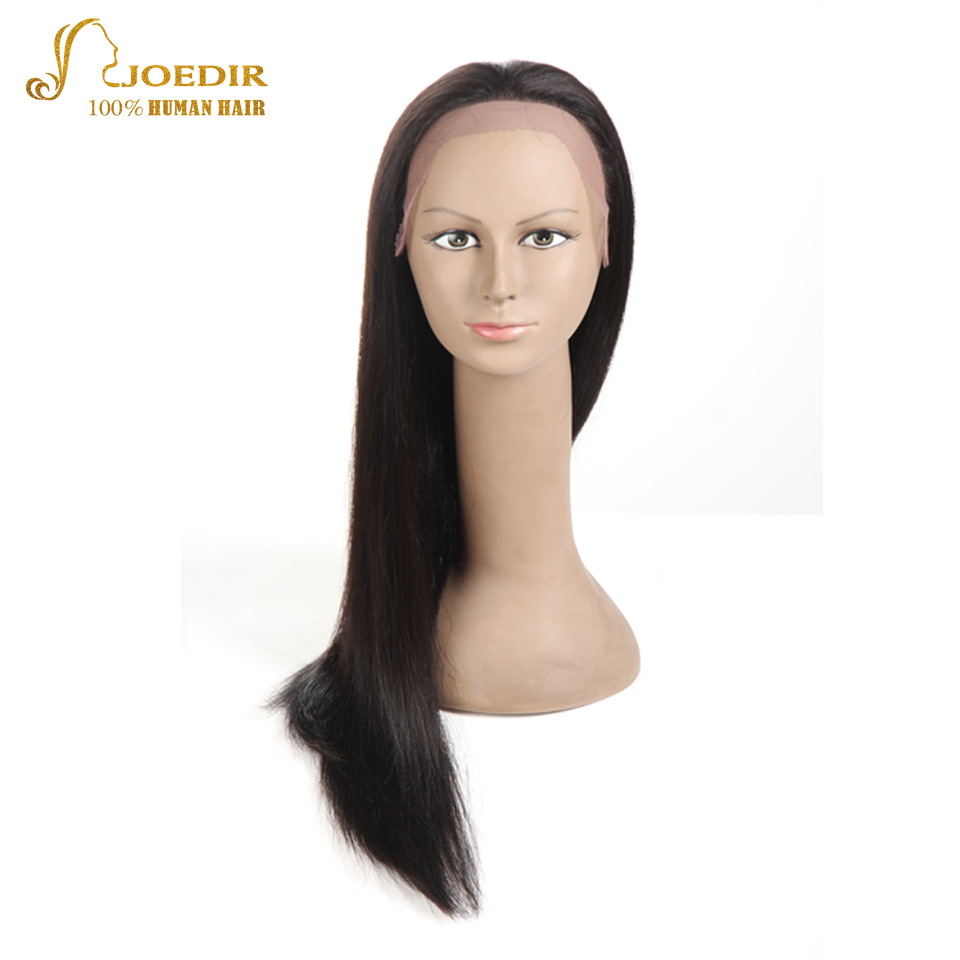 JOEDIR Hair Full Lace Long Bob Wig Free Part Lace Front Human Hair Wigs Natural Hairline ...