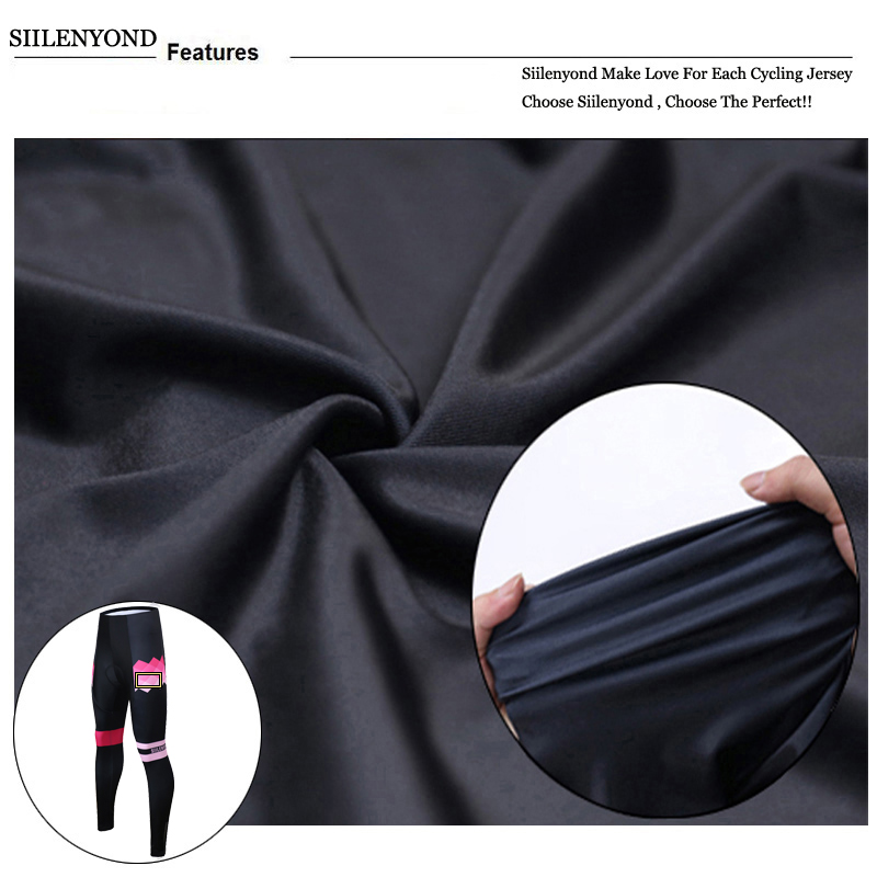 Siilenyond 2019 Winter Cycling Pants Shockproof Thermal Cycling Bicycle Trousers Keep Warm MTB Bike Cycling Tights For Women 7