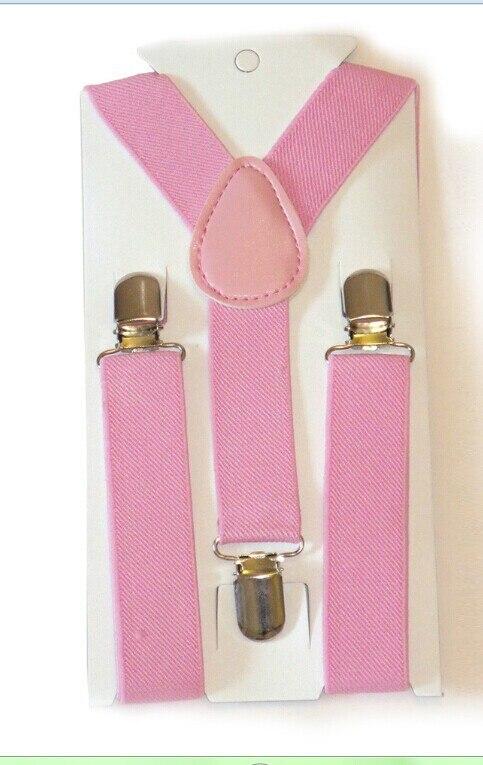 Симпатичные для маленьких мальчиков заколка для девушек на чулок Y назад ребенок Эластичные подтяжки Расчалки - Цвет: Розовый