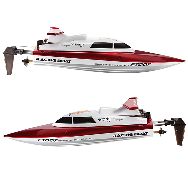 New FT007 4CH 2.4G Water Cooling High Speed Racing Remote Control RC Boat With 7.4V 700mAh Lipo Battery