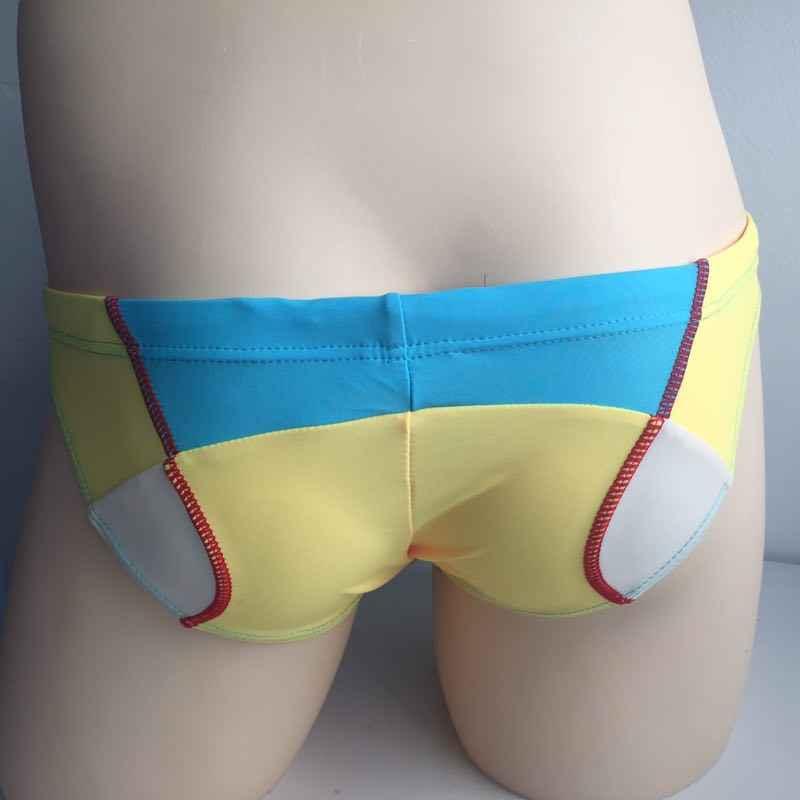 Seobean verão men natação cintura baixa sexy calções de banho homem praia respirável maiôs secagem rápida masculino