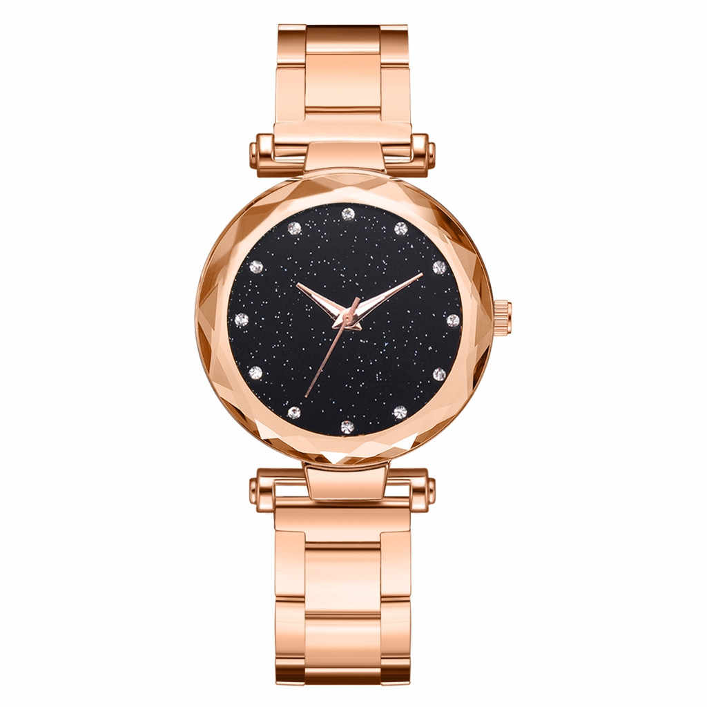 Relogio Feminino 2019 Роскошные брендовые Модные Простые Звездные небо многогранные Bump Циферблат Дамы стальной ремень часы женские часы