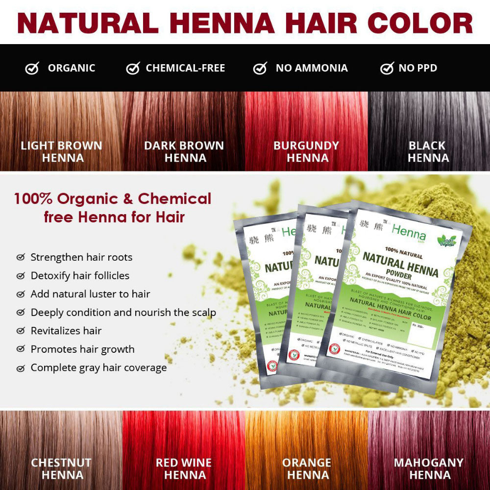 Henna Hair Color 100 Organic And Chemical Free Black Henna Allin