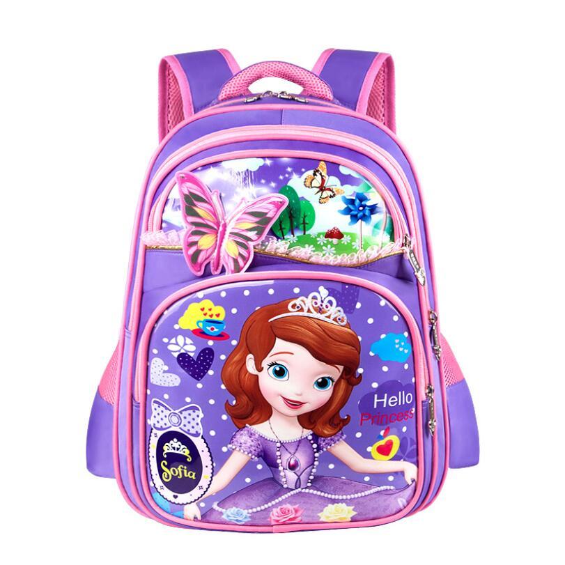Школьная сумка для девушки мультфильм София Дети Рюкзак Сумки принцессы милые школьные рюкзаки школьный сумки детей книги мешок