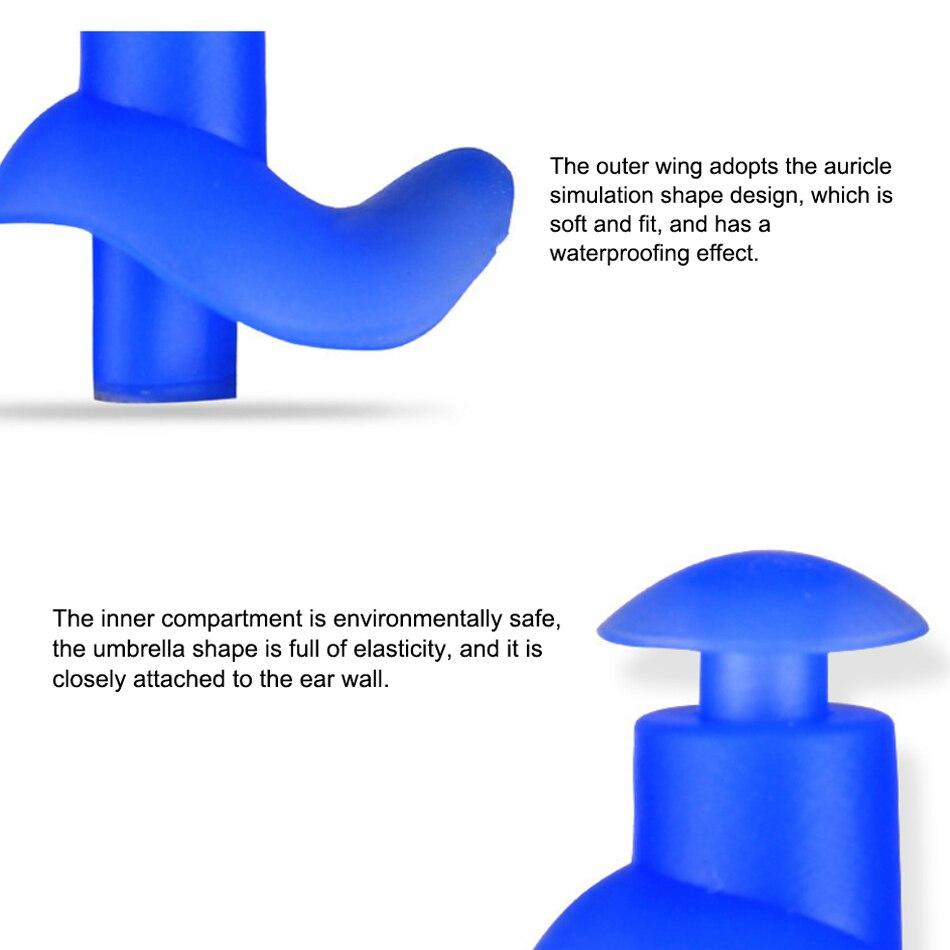 Angwood 10 шт./лот, Универсальные мужские и женские защитные вкладыши для плавания, мягкие силиконовые затычки для ушей, защита для слуха, для заботы о здоровье