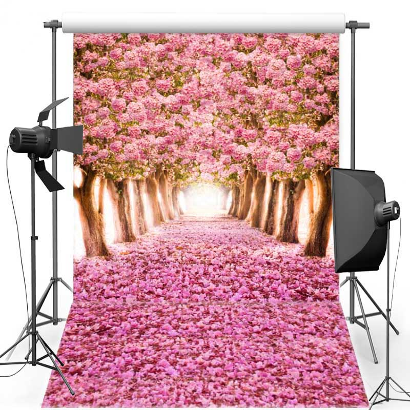 Floral Tree For Wedding Vinyl Photography Background Backdrops Pink Flower Oxford Backgrounds For Photo Studio F1074 2015 new 10ft 16ft photo studio vinyl backgrounds special design white wedding theme backdrops f 1243