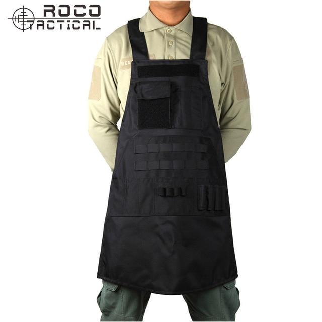 ROCOTACTICAL Outdoor MOLLE Tactical Aprons Tactical BBQ Aprons Vest Waterproof Grilling Chef's Vest Aprons ACU/CP Multicam