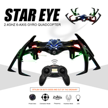 2.4G 6-Axis Gyro RC Drone With Camera 180 Degree Inverted Mode Flight Quadrocopter Flashing Drones Drone With Remote Control RC!(China)