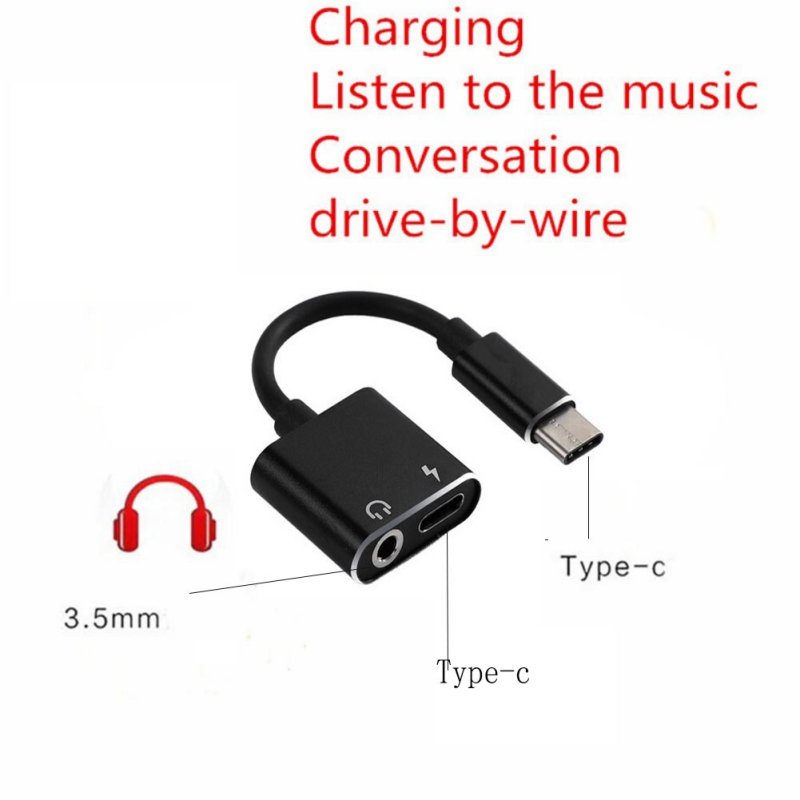 3.5mm Audio Type-c To Type-c Converters Type C Adapter Audio Cable Charge Adapter USB Type C Converter