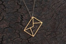 Geometric Paper Origami Envelope Necklace I love You Letter Email Message Necklace Polygon Triangle Square Rectangle Necklaces 10pcs n050 fashion flat triangle necklace cut out subulate necklaces simple geometric polygon layering triangle necklace
