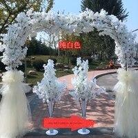 Романтическая свадьба центральные проход t stage дорога приведет свадебная АРКА Гирлянда для двери цветок стенд открытый вечерние фоновое ук