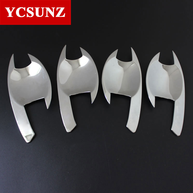 chrome for Mitsubishi l200 accessories ABS plate door handle insert bowl for mitsubishi l200 triton 2006-2014 car styling SUNZ high quality chrome tail light cover for mitsubishi l200 triton free shipping