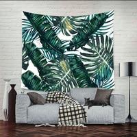 Bohemian Palm Leaf Wall Hanging Tapestry Blanket Beach Towel Wall Decorative Table Cloth Carpet Mandala Home Textile