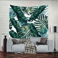 Bohemian Palm Leaf Wall Hanging Tapestry Blanket Beach Towel Wall Decorative Table Cloth Carpet Mandala Home Textile
