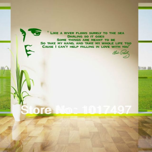Song Lyric Wall Art aliexpress : buy free shipping like a river flows..elvis