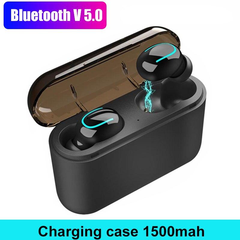 Musique T33 Tws bluetooth sans fil V5.0 Écouteur écouteurs avec micro Microphone Ture Mini oreillette invisible Casque Pour Xiaomi