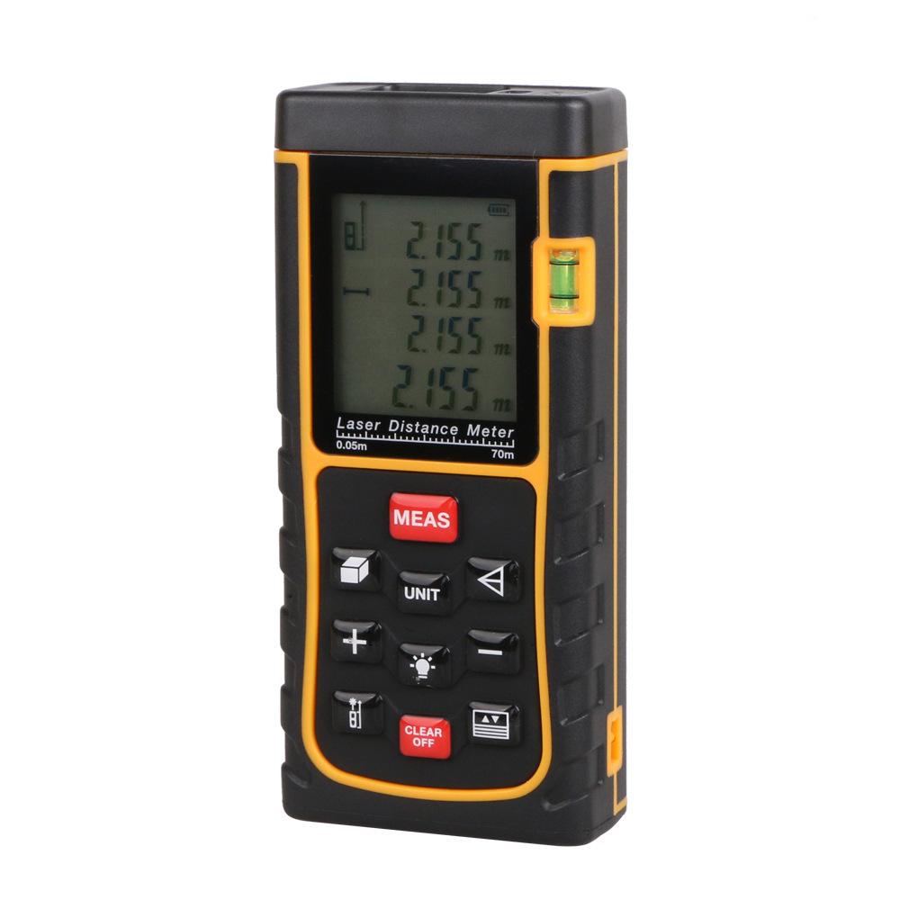 RZE70-2 70M Laser Rangefinder Laser Distance Meter Laser Range Finder Laser Tape Measure RZ 70 Tester Area-volume-Angle tool 0 05m 70m 230ft professional handheld laser range finder distance meter tester area volume pythagorean measure tecman tm70