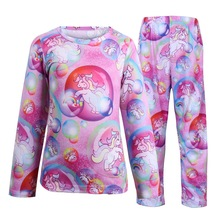 Full Sleeve Unicorn Pajama Sets Kids Unicornio Costume Children Home Wear Suits  Winter Cotton Sleepwear For Boys And Girls 3-9Y pajama sets frutto rosso for girls tk117g044 sleepwear kids home suit children clothes