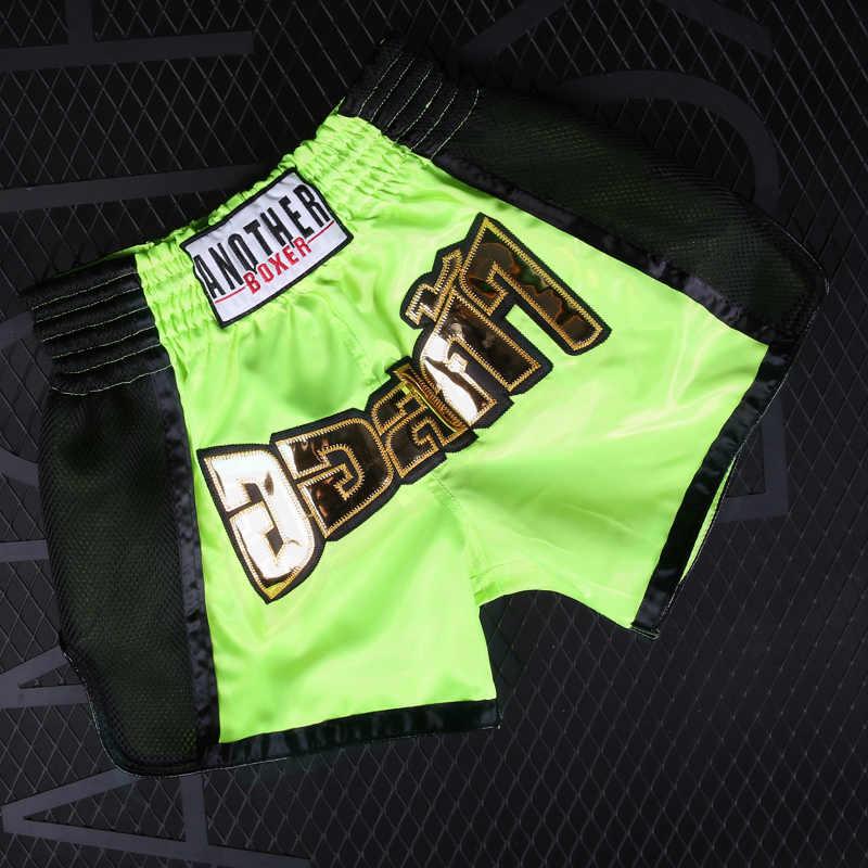 Pria Tinju Celana Pendek Mma Disublimasikan Cetak Celana Kebugaran Celana Pendek Muay Thai Kickboxing Gym Batang Pantalones Boxeo Pendek dengan Harga Murah