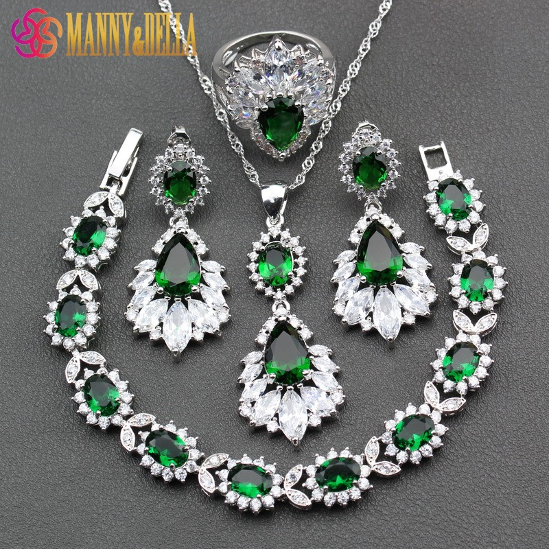 Manny&Della 925 Sterling Silver Women Jewelry Sets Necklace