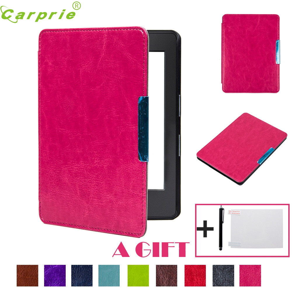 Подробнее о Ecosin2 Magnetic Auto Sleep PU Leather Cover Case For Amazon New Kindle 2016 (8th Generation) 6 inch +Free Gift (Random) 17mar24 mosunx hot selling magnetic auto sleep pu leather cover case for amazon kindle new 2016 8th generation 6 inch free gift