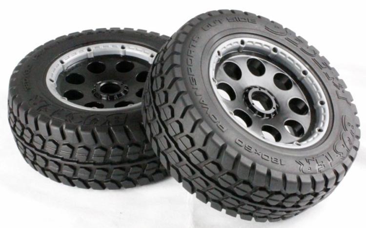 R/C Baja 5T Terminator Wheels & Tyres Front 2pcs 85041