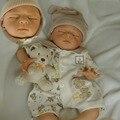 UCanaan 50-55 cm Fechar Os Olhos Lifelike Bonecas Reborn Silicone Bebê Feito À Mão macio Brinquedo do Bebê Renascer Bonecas Vivas Do Corpo Melhor Presente para criança