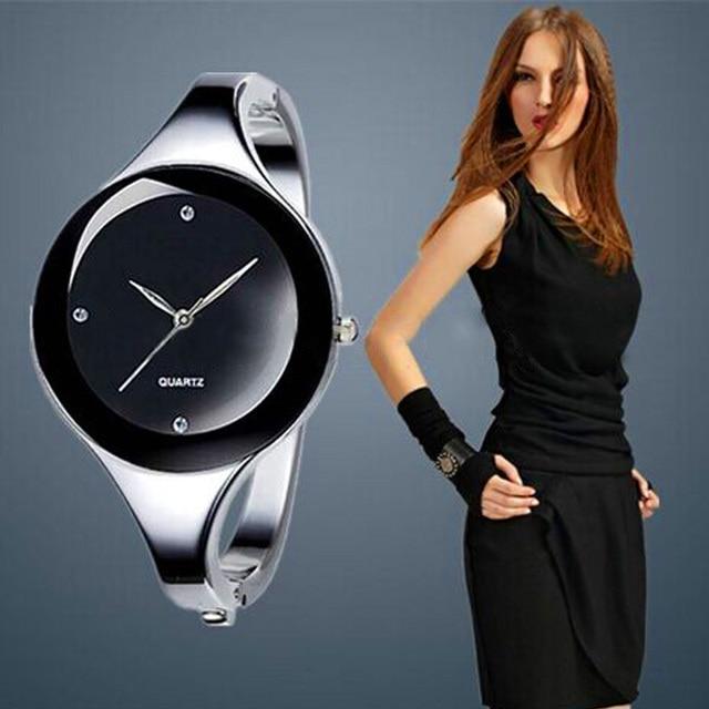 Top Fashion Women Watch Female Luxury Brand Full Steel Bracelet Watches Ladies Q