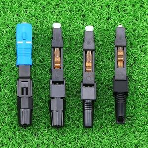 Image 3 - KELUSHI 50pcs/lot SC Optic Fiber Quick Connector Multimode FTTH SC Single Mode UPC Fast Connector