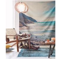 Sea beach scenic cloth tapestry,multi function tapestry , table cloth, wall cloth, wearable beach blanket