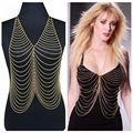 Free Shipping Top Quality Sexy Body Chain Gold Plated New Hot Sale Cross pendant chain Clothes Shape Jewelry Accessory