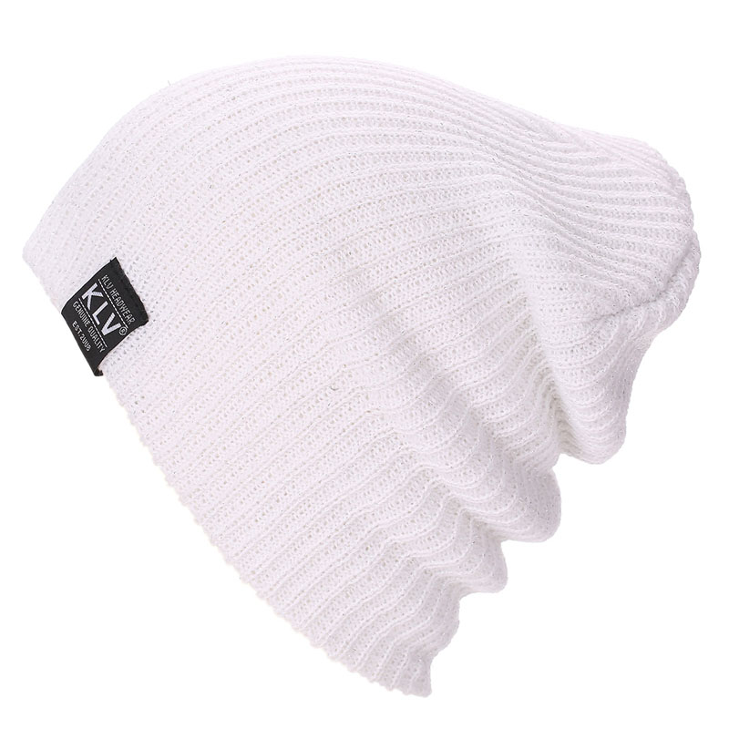 Knit Winter Warm Ski Crochet Slouch Hats Cap Beanie Oversized unisex 6 colors cap unisex women warm winter baggy beanie knit crochet oversized hat slouch ski cap