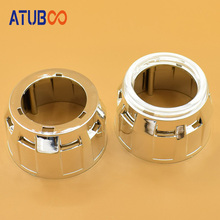2pcs/Lot Hid projector lens Mini shroud chrome mask for 2.5 with angel eye cover car headlight retrofit cap