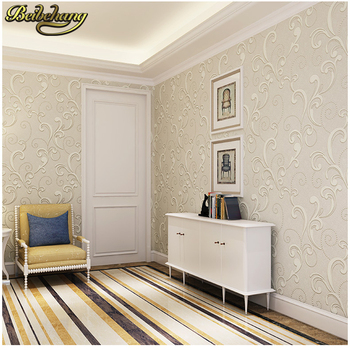 цена на beibehang papel de parede 3D Non-woven european glossy stylish damask wallpaper for living room luxury wall paper for bedroom