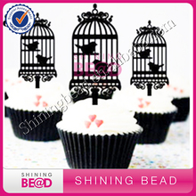 10 Set Lot Birdcage Acrylic Wedding Stand Cup Cake Toppers