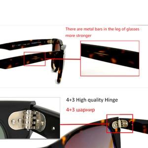 Image 4 - Lente de vidro retro óculos de sol dos homens das mulheres acetato óculos de sol 2140 marca luxo rebite design óculos femininos elegantes quadrados oculos