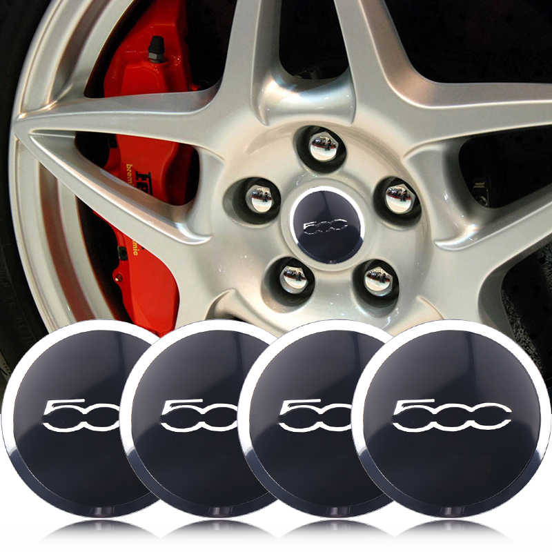 4 шт. автомобильный Стайлинг 56 мм гоночный Abarth эмблема Шины центр ступицы колпачки Автомобильный декоративный стикер для Fiat 500 аксессуары