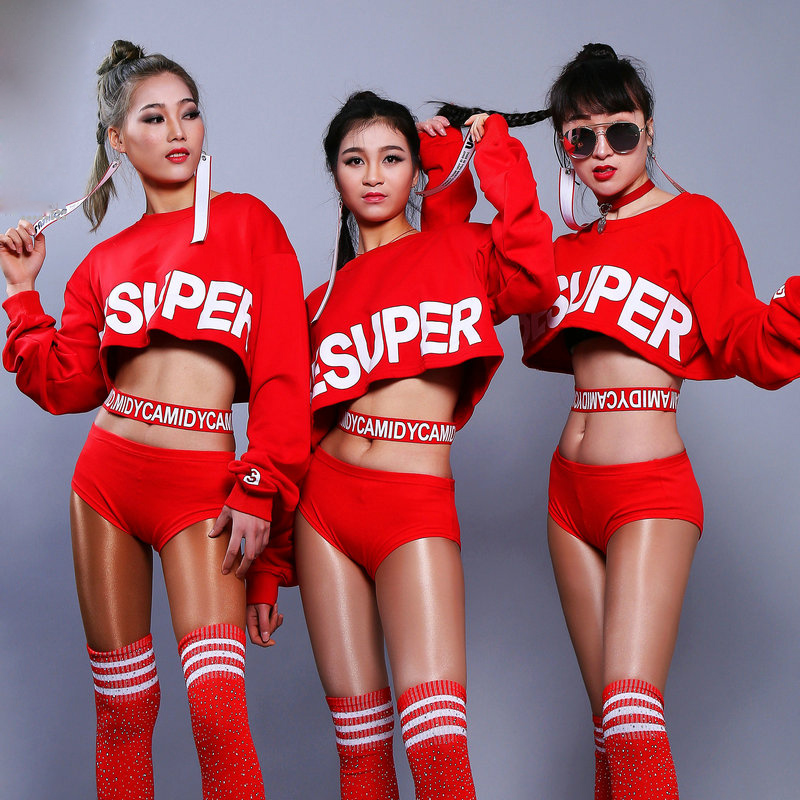 Jazz Dance Costumes Sexy Red Blouse Shorts Pole Dancing Rave Clothes Nightclub Singer Dj Women Hip Hop Stage Outfit Lady DT1056