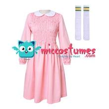 זר דברים עשר שמלת נשים ילדה ורוד ארוך שרוול שמלת תלבושות