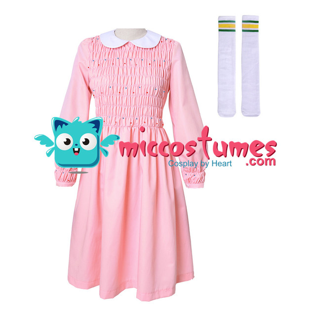 4c25d77acc US $45.99 |Stranger Things Eleven Dress Women Girl Pink Long Sleeve Dress  Costume-in Movie & TV costumes from Novelty & Special Use on Aliexpress.com  ...