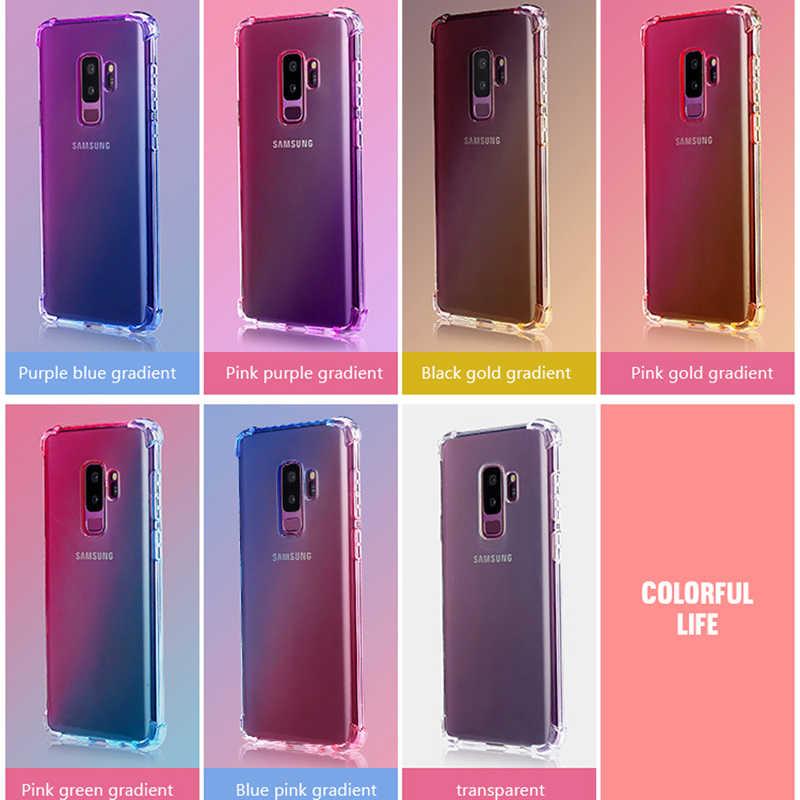 Silicone Gradient Trường Hợp Đối Với Samsung Galaxy A50 A30 A10 A70 A40 M20 M10 M30 S10E S9 S8 S10 Cộng Với A6 a7 A8 A9 2018 Mềm TPU Bìa