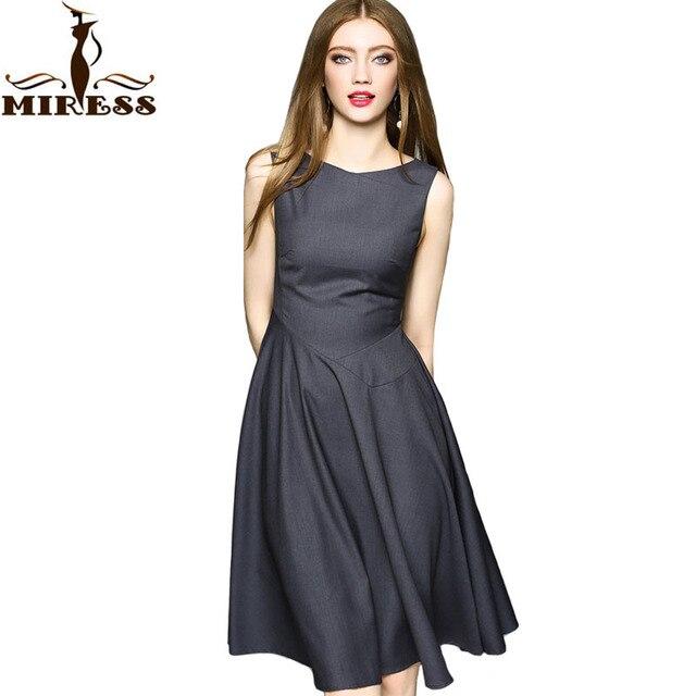Designer Women Vintage Dress 1950s Retro Elegant Ladies Office Dresses Sleeveless Summer Knee Length Party MIRESS