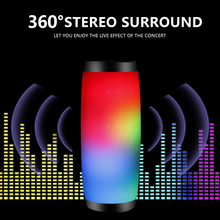 лучшая цена 10W Wireless Bluetooth Speaker with Colorful LED Light Outdoor Portable Column FM Radio TF with Mic Hands Free Stereo Subwoofer