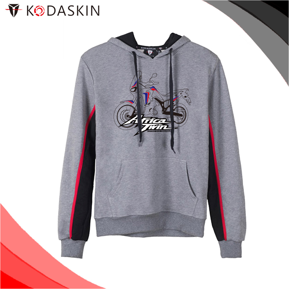 KODASKIN Men Cotton Round Neck Casual Printing Sweater Sweatershirt Hoodies for Africa Twin AFRICA TWIN in Jackets from Automobiles Motorcycles