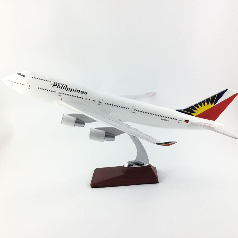 45 47 см филиппинские авиалинии Боинг 747 1:150 сплав самолет коллекция моделей Игрушки Подарки бесплатная экспресс EMS/DHL/доставка